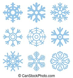 Vector Snowflake set