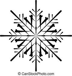 Vector snowflake silhouette