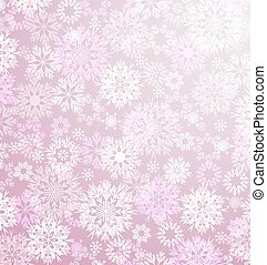 vector, snowflakes, achtergrond