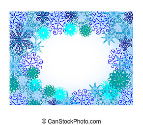 Vector snowflakes background with place for your text. Eps 10