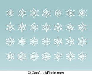 vector snowflakes collection