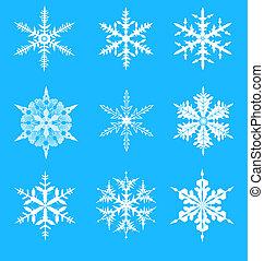 Vector Snowflakes decorative set