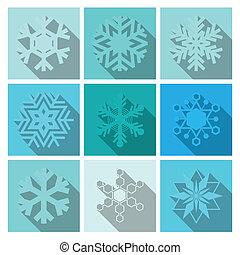 Vector Snowflakes Icons Set Design
