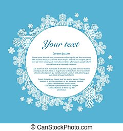 Vector. Snowflakes on a blue background with place for your text