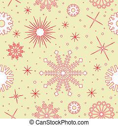 Vector snowflakes pattern