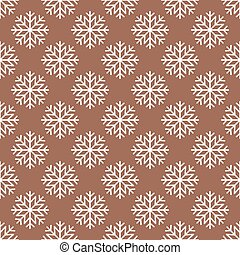 Vector Snowflakes Seamless Pattern - Vector Christmas and...