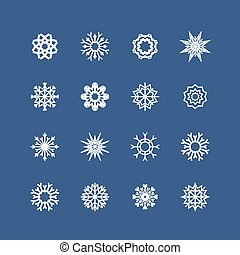 Vector snowflakes set for Christmas design. christmas theme. Vector