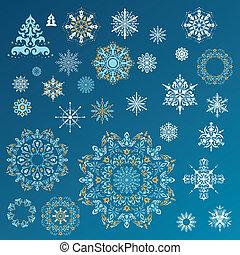 Vector snowflakes set