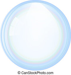 Vector soap bubble - An illustration of a beautiful soap...