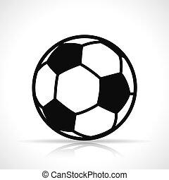 Vector soccer ball black icon