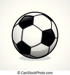 Vector soccer ball icon design