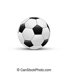 Vector soccer ball isolated on white background. Realistic football ball.