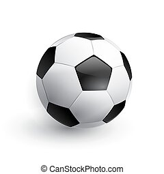 Vector Soccer ball - Soccer ball. Football ball. Realistic...
