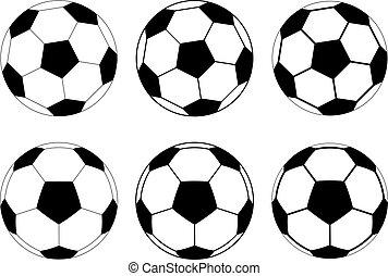 vector soccer balls