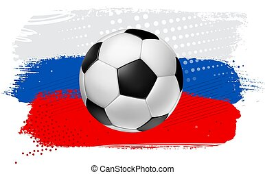 Vector Soccer Football Ball on Colorful Background