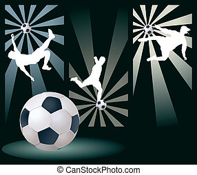 Vector Soccer Players. Easy Change Colors.