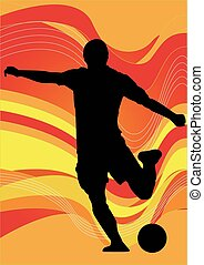 Vector - Soccer players silhouette