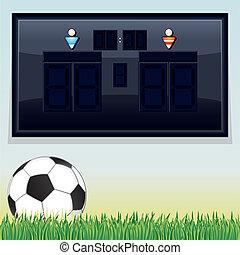 Vector Soccer Scoreboard. Vector Template