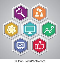 Vector social media concept - abstract illustration with ...