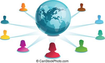 vector social media concept