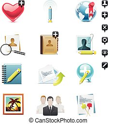 Vector social media icon set. P.1