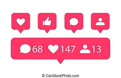Vector social media icons.