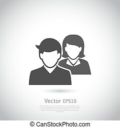 Vector social network icon. Users icon design element