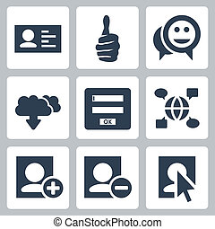 Vector social network icons set