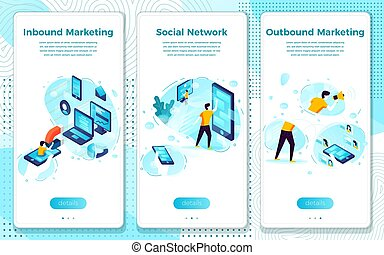 Vector social network, in and outbound marketing - Vector ...