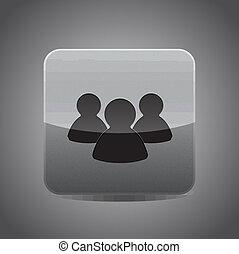 Vector social network / member icon
