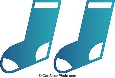 vector socks icon