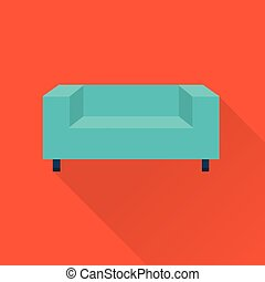 Vector simple cute style flat sofa icons