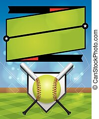 Vector Softball League Registration - A vector illustration...