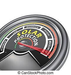 vector solar protection conceptual meter indicator