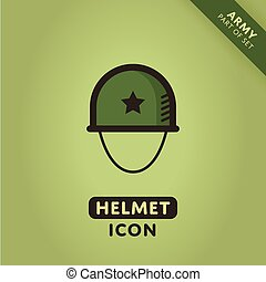 Vector Soldier helmet icon