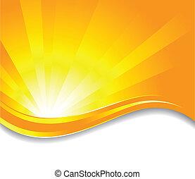vector, soleado, plano de fondo