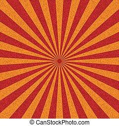 vector., soleil, résumé, retro, fond, rays., rouges
