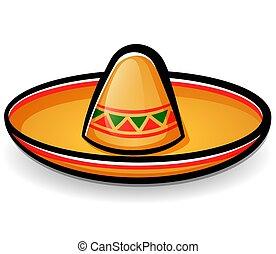 Vector sombrero mexican hat cartoon