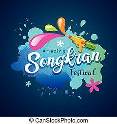 Vector Songkran festival of thailand holiday