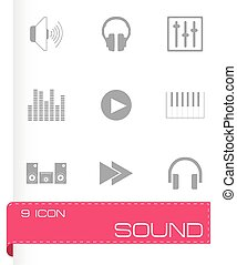 Vector sound icons set
