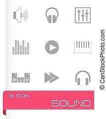 Vector sound icons set