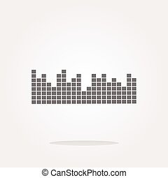vector sound round web glossy icon