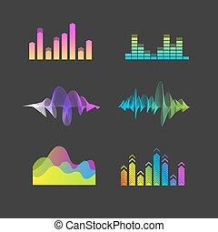 Vector Sound Waves Equalizer Set.