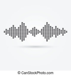 Vector soundwave music icon - music simple symbol
