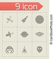 Vector space icon set