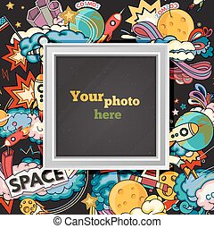 Vector space photo frame