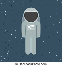 vector spaceman in flat style