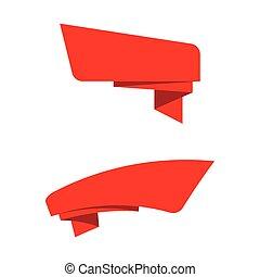 vector, spandoek, lint, illustratie