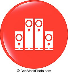 vector Speaker. Button. icon isolated on white background