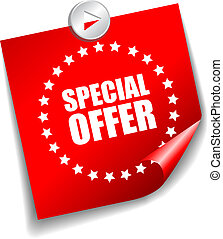 Vector special offer sticker isolated on white